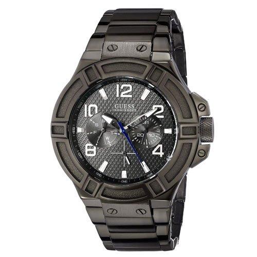 ゲス 腕時計 メンズ リガー  W0218G1 グレー×ガンメタル