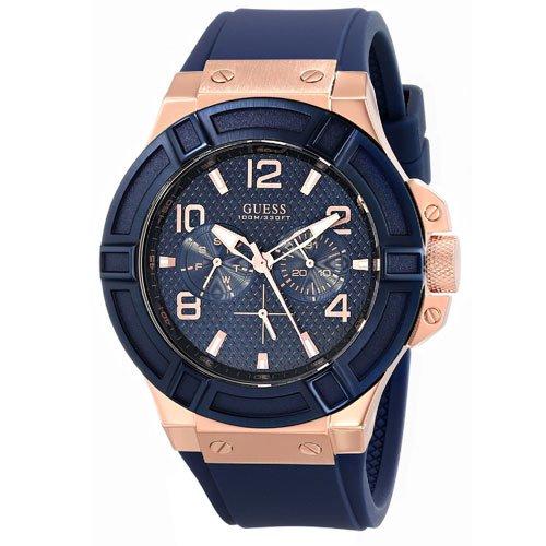 ゲス 腕時計 メンズ リガー  W0247G3 ブルー×ブルー