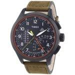 タイメックス 腕時計 リニア T2P276 ブラック×オリーブレザーベルト