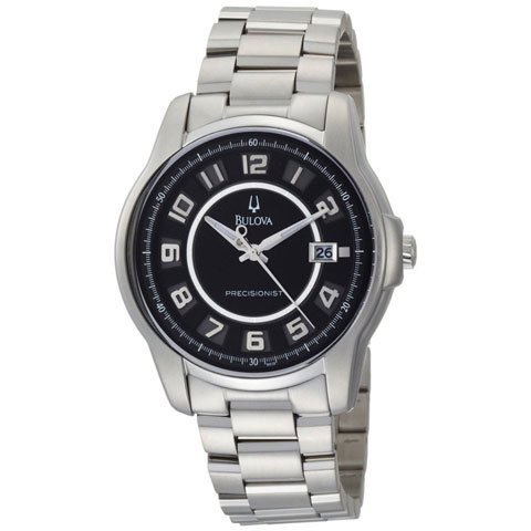 ブローバ 腕時計 プレシジョニスト 96B129 ブラック×ステンレススチールベルト