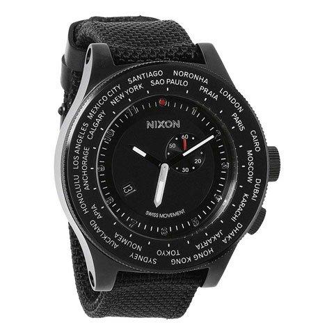 ニクソン 腕時計 パスポート A321001 ブラック×ブラックナイロンベルト