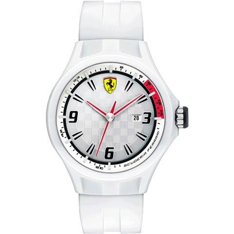スクーデリア・フェラーリ 腕時計 ピットクルー 0830003 シルバー×ホワイト