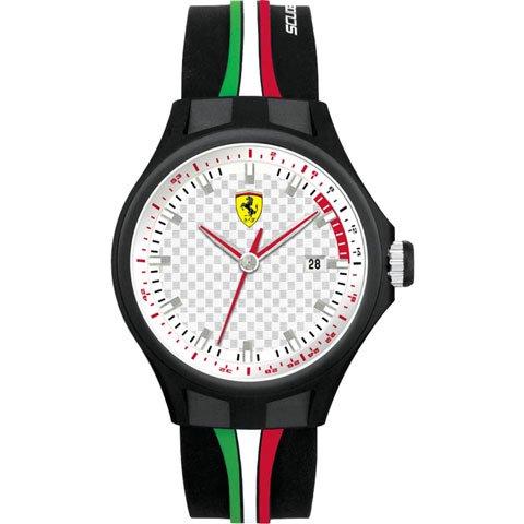 <img class='new_mark_img1' src='https://img.shop-pro.jp/img/new/icons50.gif' style='border:none;display:inline;margin:0px;padding:0px;width:auto;' />スクーデリア・フェラーリ 腕時計 ピットクルー 0830008 シルバー×ブラック