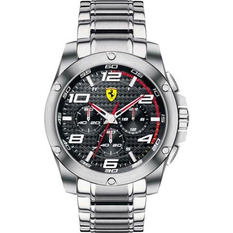 スクーデリア・フェラーリ 腕時計 パドック 0830035 ブラック×シルバー