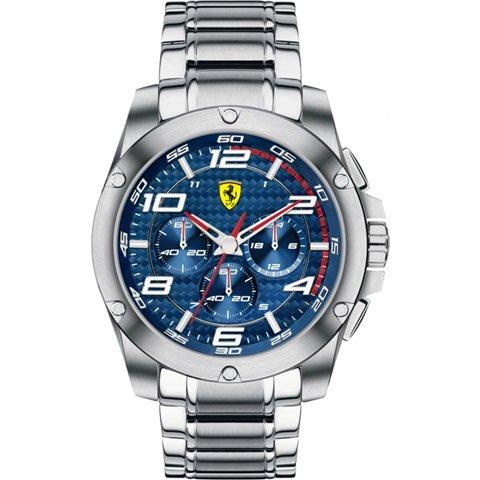 スクーデリア・フェラーリ 腕時計 パドック 0830036 ネイビーブルー×シルバー