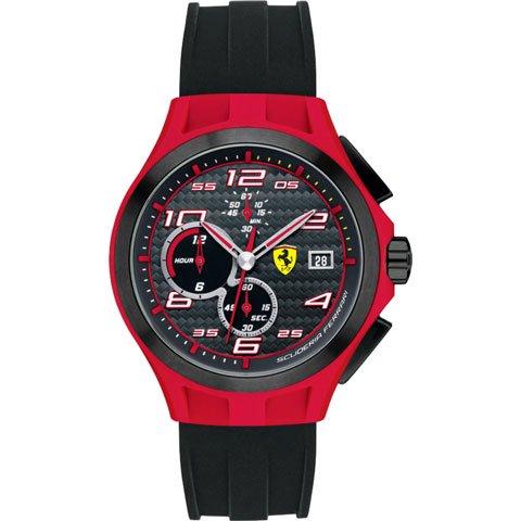 スクーデリア・フェラーリ 腕時計 ラップタイム 0830017 ブラック×レッド×ブラックシリコンベルト