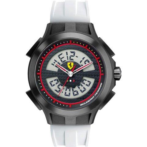 <img class='new_mark_img1' src='https://img.shop-pro.jp/img/new/icons16.gif' style='border:none;display:inline;margin:0px;padding:0px;width:auto;' />スクーデリア・フェラーリ 腕時計 ラップタイム 0830020 ブラック×ホワイト