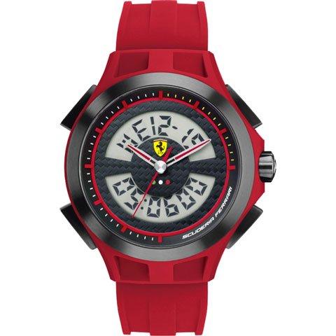 スクーデリア・フェラーリ 腕時計 ラップタイム 0830019 ブラック×レッド
