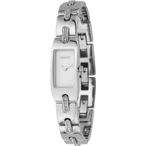 ダナキャランニューヨーク 腕時計 レディース NY3366 シルバー×クリスタルストーン