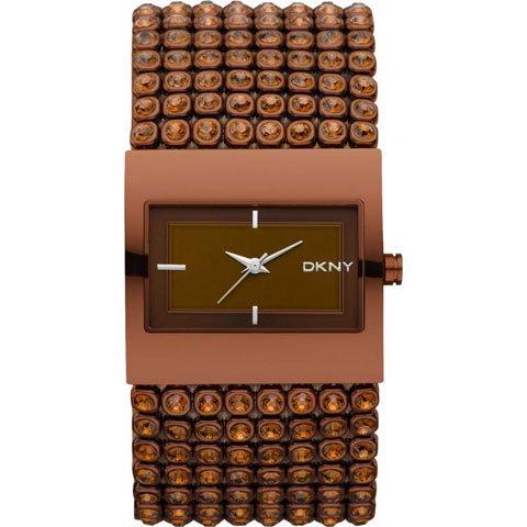 ダナキャランニューヨーク 腕時計 レディース NY8396 ブラウン×クリスタル