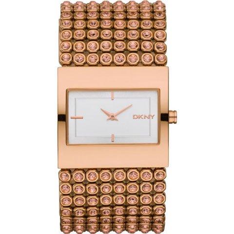 ダナキャランニューヨーク 腕時計 レディース NY8446 ホワイト×ローズゴールド×クリスタル