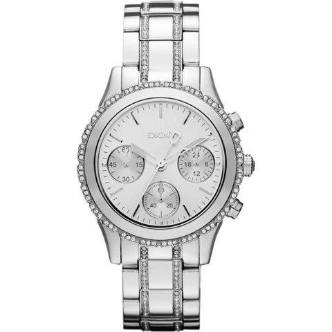 DKNY 腕時計 レディース NY8706 ホワイト×クリスタル×シルバー
