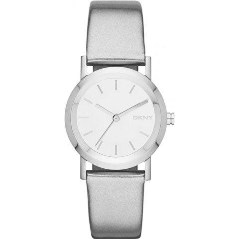 DKNY 腕時計 レディース NY8857 レキシントン シルバーレザーベルト