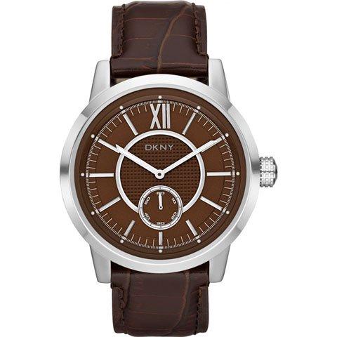 DKNY 腕時計 メンズ NY1521 ファンシー ブラウン×ブラウンレザーベルト