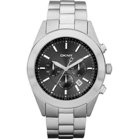 DKNY 腕時計 メンズ NY1507 クロノグラフ ブラック×シルバー