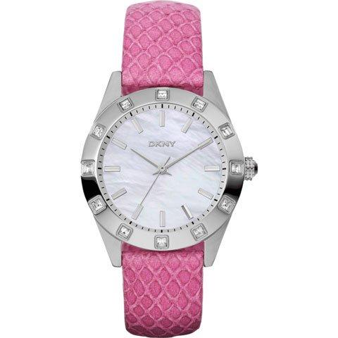 DKNY 腕時計 ノリータ NY8787 マザーオブパール×ピンクレザーベルト