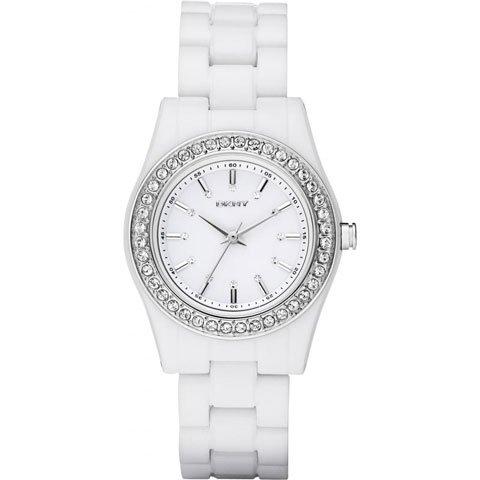 DKNY 腕時計 レディース NY8145 ブロードウェイ ホワイトポリカーボネート