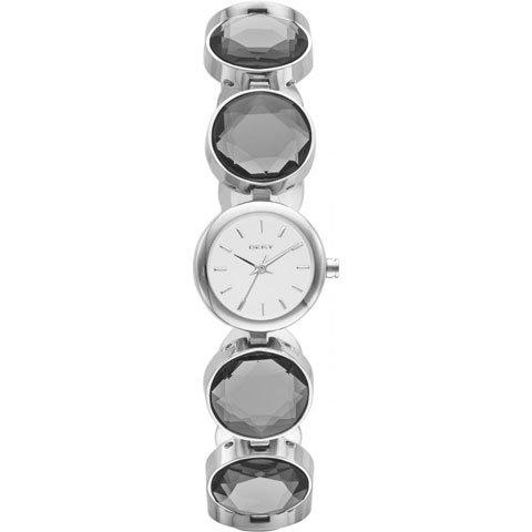 DKNY 腕時計 レディース NY2123 ラウンドアバウト シルバー×クリスタル
