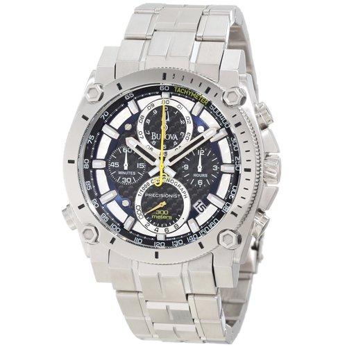 ブローバ 腕時計 プレシジョニスト 96B175 ブラック×ステンレススチールベルト
