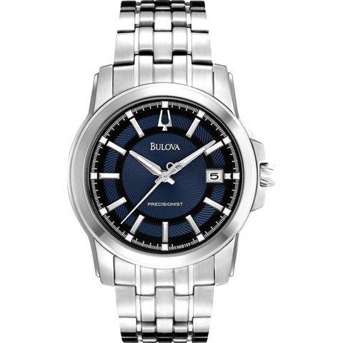ブローバ 腕時計 プレシジョニスト 96B159 ネイビーブルー×ステンレススチールベルト