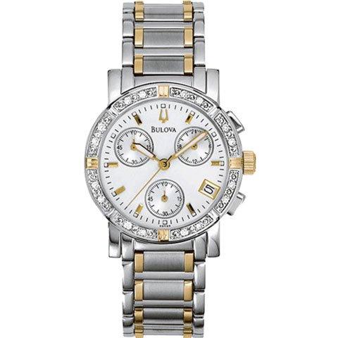 ブローバ 腕時計 レディース ダイヤモンドコレクション 98R98 ホワイト×ステンレススチールベルト