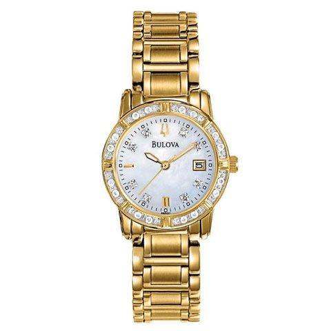 ブローバ 腕時計 レディース ダイヤモンドコレクション 98R165 マザーオブパール×ゴールド