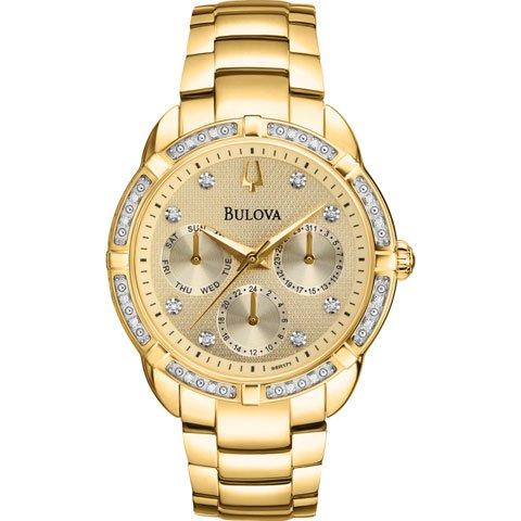 ブローバ 腕時計 レディース ダイヤモンドコレクション 98R171 ゴールド×ゴールド