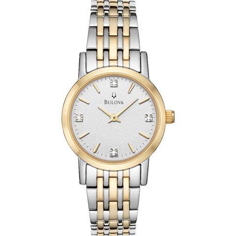 ブローバ 腕時計 レディースダイヤモンド 98P115 シルバー×ゴールドトーン