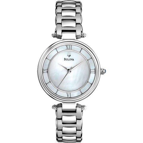ブローバ 腕時計 レディースドレス 96L185 ブルーパール×シルバー