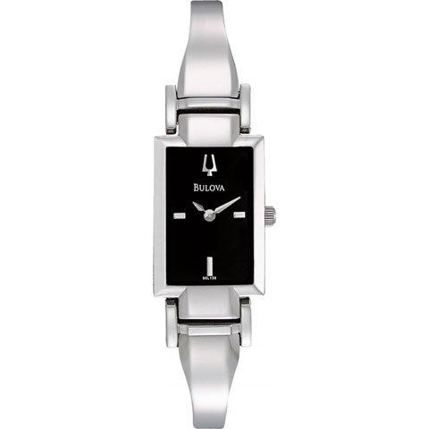 ブローバ 腕時計 レディースドレス 96L138 ブラック×シルバー