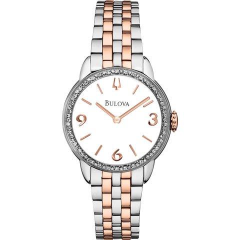 ブローバ 腕時計 ダイヤモンドギャラリー 98R182 ホワイト×ローズゴールド