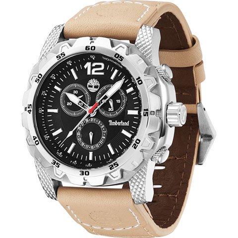 ティンバーランド 腕時計 フロントカントリー 13318JS/02 ブラック×ベージュレザーベルト