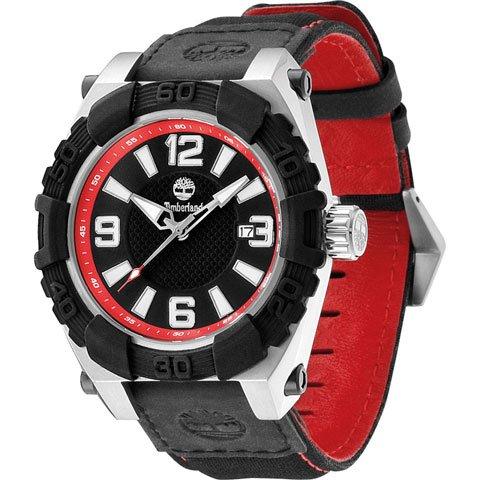 ティンバーランド 腕時計  Hookset 13321JSTB/02 ブラック×ブラックレザーベルト×ナイロン
