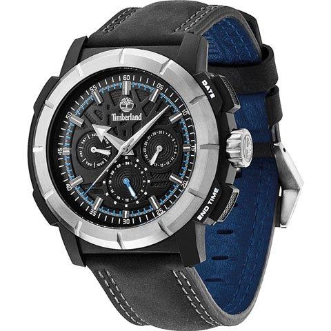 ティンバーランド 腕時計 エッジウッド 13325JPBS/02A ブラック×ブラックレザーベルト