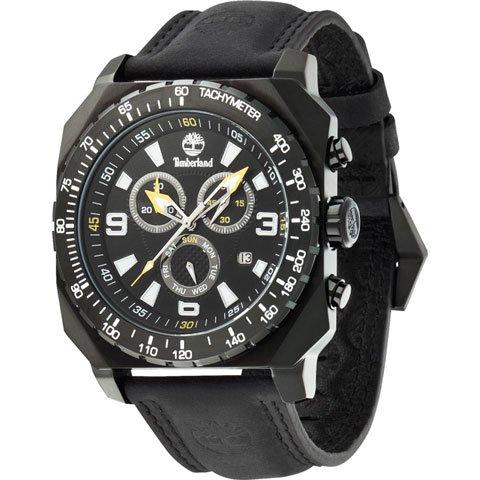 ティンバーランド 腕時計 ステーサム 13324JSB/02 ブラック×ブラックレザーベルト