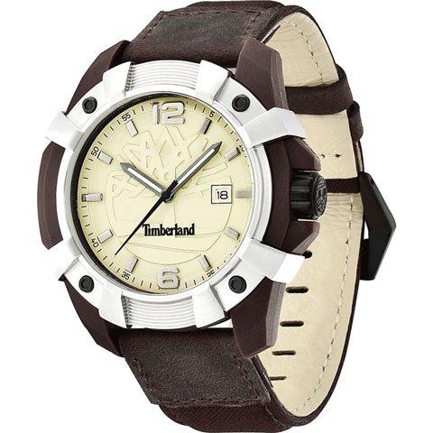 ティンバーランド 腕時計 チョコルア 13326JPBNS/07 ベージュ×ブラウンレザー×ナイロンベルト