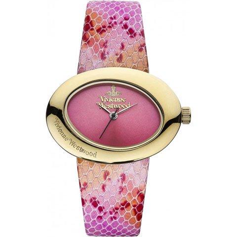 ヴィヴィアン・ウエストウッド 腕時計 エリプス VV014PKPK ピンク×ゴールドケース×ピンクスネークレザーベ…