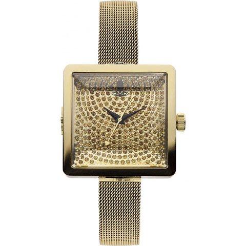 ヴィヴィアン・ウエストウッド 腕時計 レディーキューブ VV053GDGD イエローゴールド×クリスタルスト…