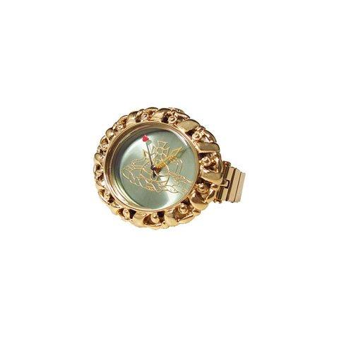 ヴィヴィアン・ウエストウッド 腕時計 ピムリコリング VV052GRGD グリーン×ゴールド リングウォッチ