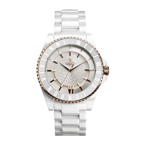 ヴィヴィアン・ウエストウッド 腕時計 セラミック VV048RSWH シルバー×ホワイト