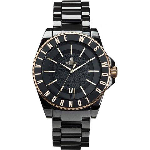 ヴィヴィアン・ウエストウッド 腕時計 セラミック VV048GDBK ブラック