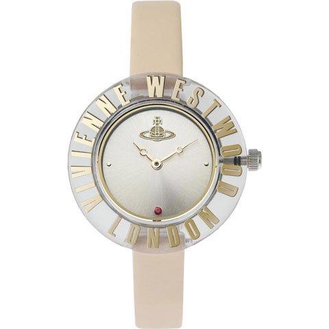 ヴィヴィアン・ウエストウッド 腕時計 クラリティー VV032BG シルバー×ベージュレザーベルト