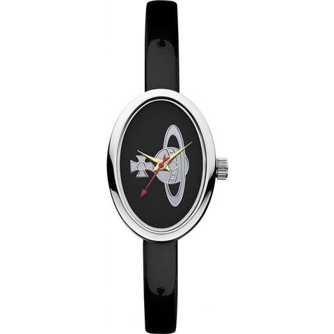 ヴィヴィアン・ウエストウッド 腕時計 メダル VV019BK ブラック×エナメルレザーベルト