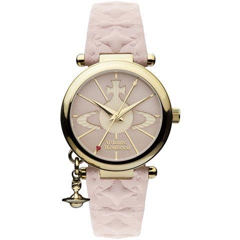 ヴィヴィアン・ウエストウッド 腕時計 オーブ2 VV006PKPK ゴールド×ピンクレザーベルト