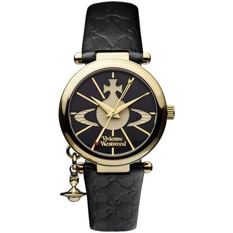 ヴィヴィアン・ウエストウッド 腕時計 オーブ2 VV006BKGD ゴールド×ブラックレザーベルト