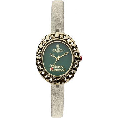 ヴィヴィアン・ウエストウッド 腕時計 ロココ2 VV005GRGY グリーン×グレーレザーベルト