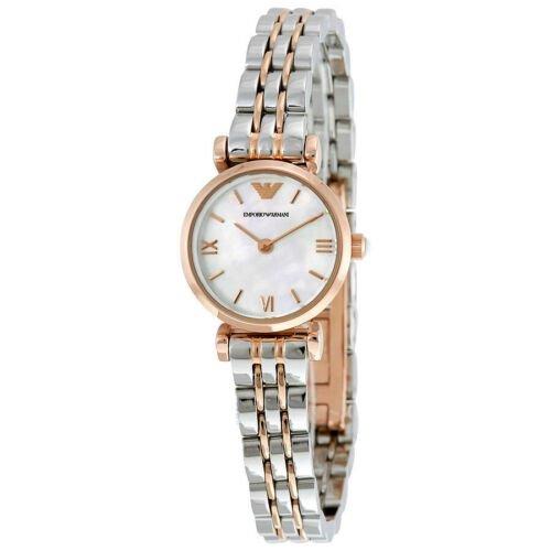 エンポリオアルマーニ  腕時計 レディース ジャンニ AR1764 パールホワイト×ツートン