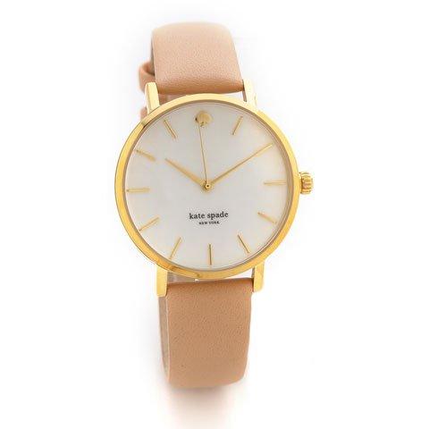 ケイトスペード 腕時計 1YRU0073 メトロ ゴールド×ベージュレザーベルト