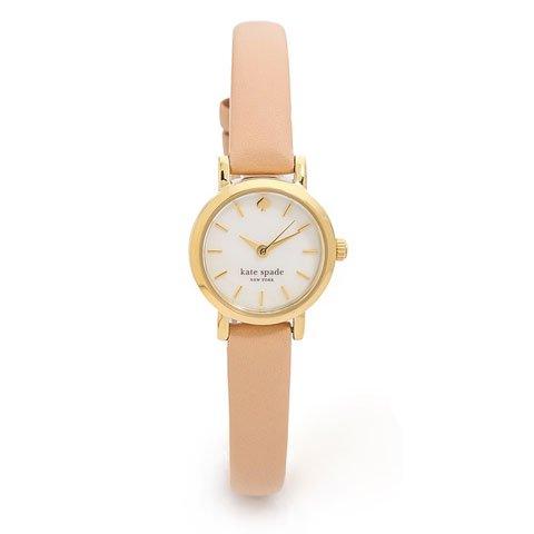 ケイトスペード 腕時計 1YRU0372 タイニーメトロ マザーオブパール×ベージュレザー