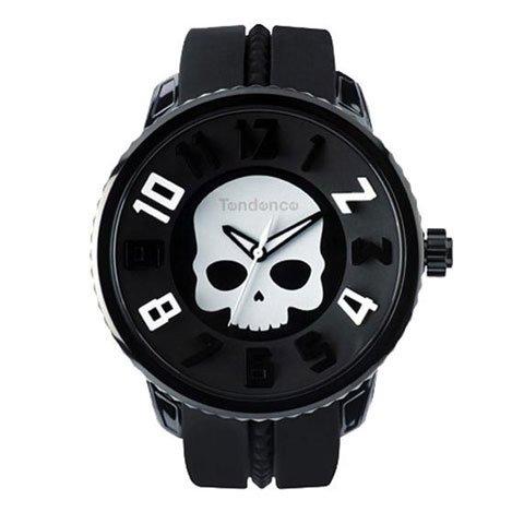 テンデンス 腕時計 ガリバーラウンド スカル TD05023012 ブラック×ホワイト